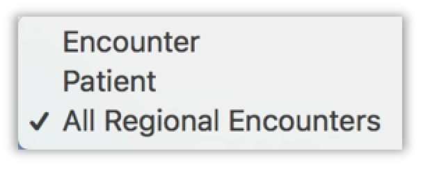 Image of the encounter type filter