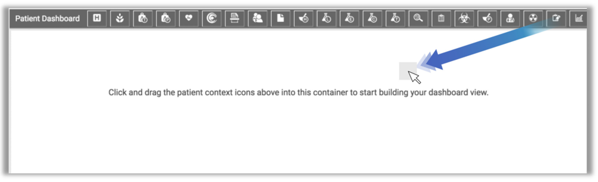Image showing how to open the module form the dashboard icon