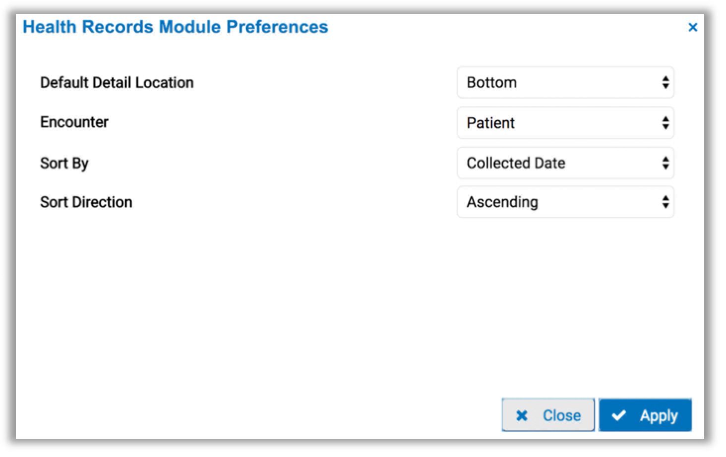 image of the preferences tab