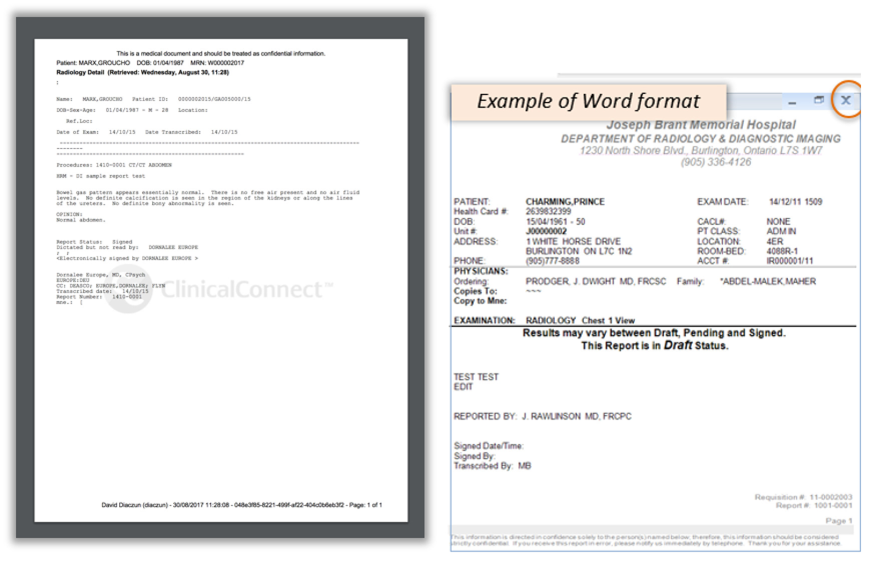 image of the print preview of the document that needs to be printed