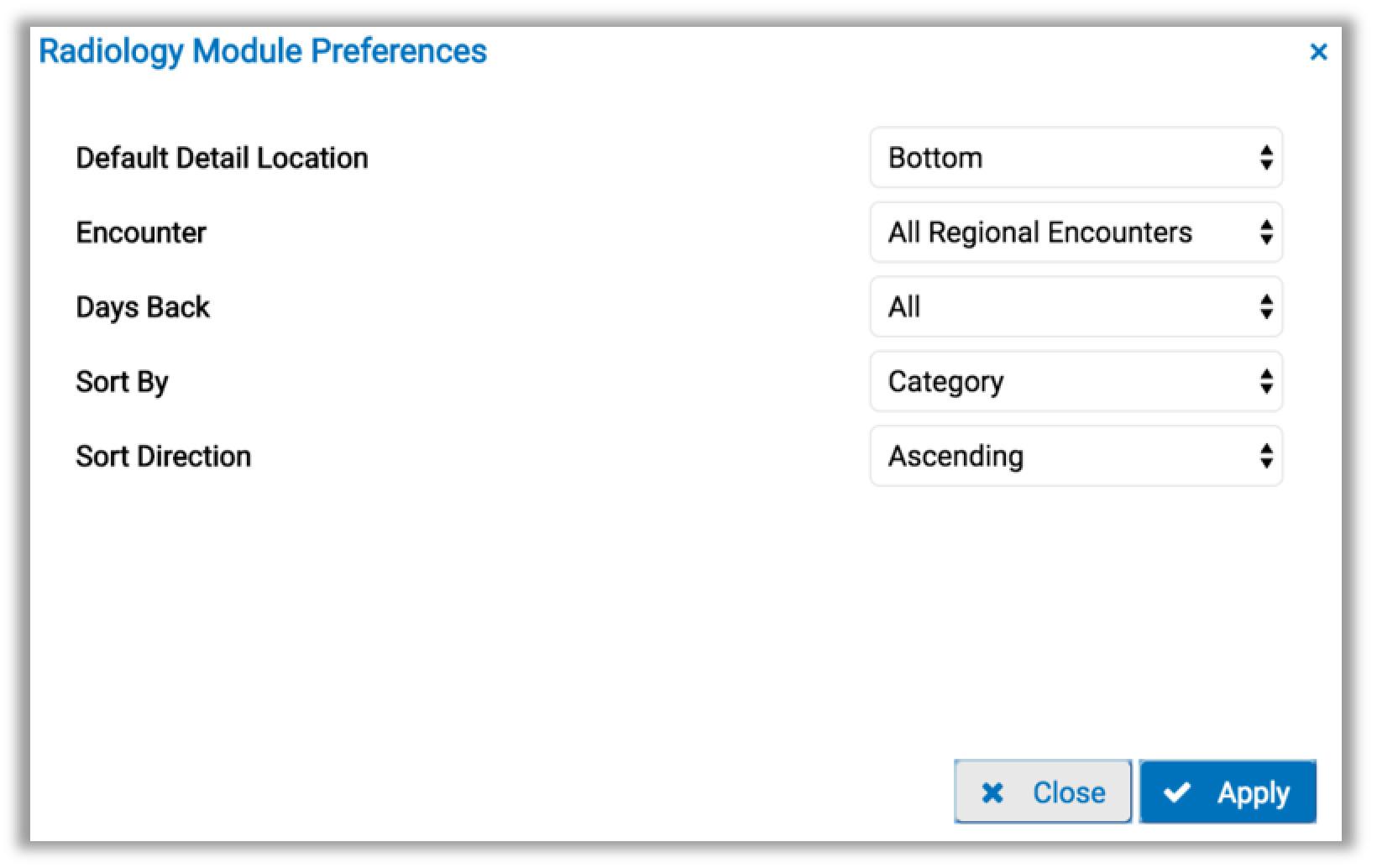 image od the preferences tab