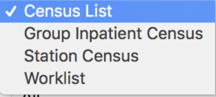 image showing the options for the census list view preferences