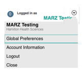 Image of the Global preferences options under the name