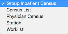 Image showing the default census view options