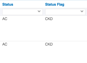 Image of status flags