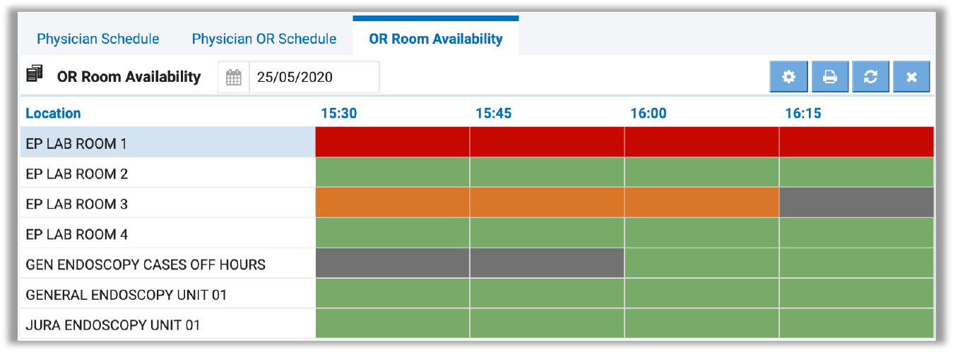 Image of OR Room Availability