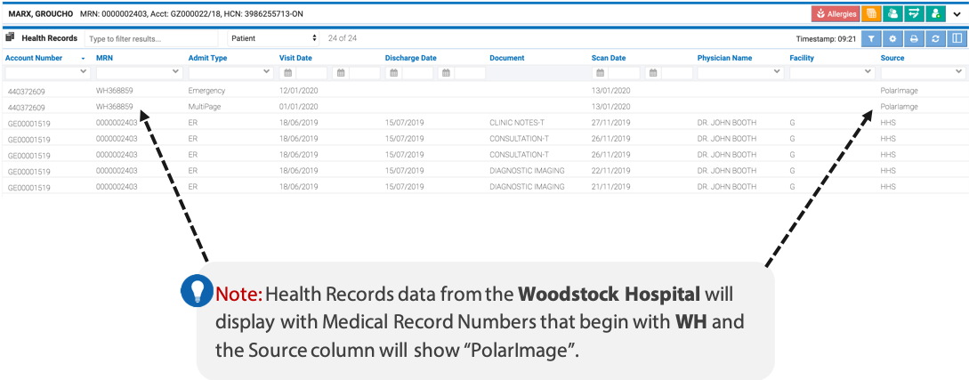 image of the health records module