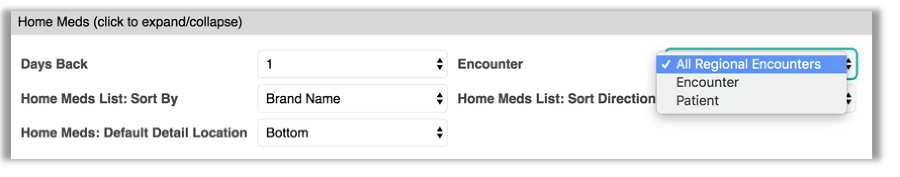 image of how to update preferences for home meds